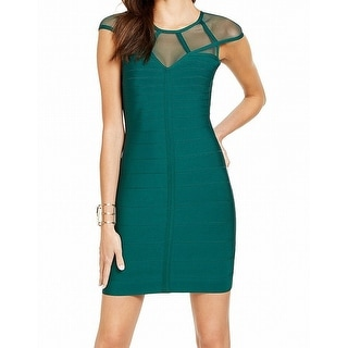 Link to Guess Women's Dress Green Size Small S Bandage Illusion-Mesh Bodycon Similar Items in Dresses