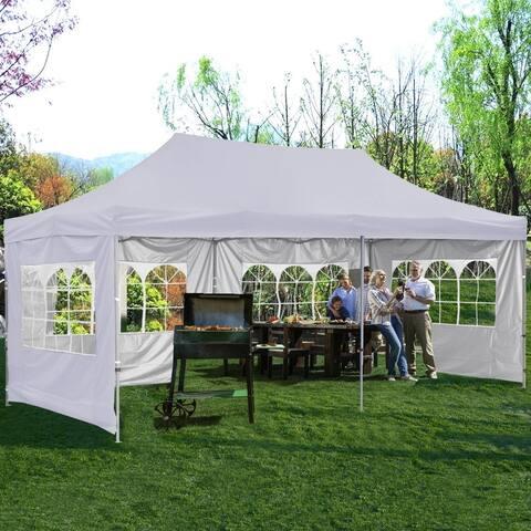 Zenova 10x20 Ft Pop up Canopy Tent, Wedding Party Heavy Duty Instant Gazebo - N/A