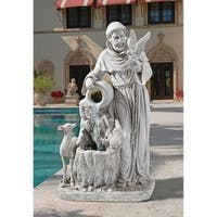 Design Toscano St. Francis' Life-Giving Waters Fountain