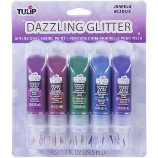 Tulip Dazzling Glitter Dimensional Fabric Paint 2Oz 5/Pkg-Jewels