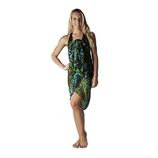 Plus Size Swimsuit Sarong Cover up in Hawaiian Palm Print