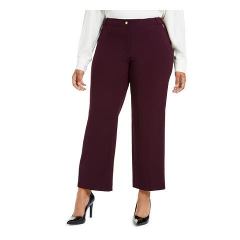 CALVIN KLEIN Womens Purple Wear To Work Pants Size 14W