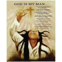 ''God Is My Man'' by Batteryman African American Art Print (21.5 x 18 in.)