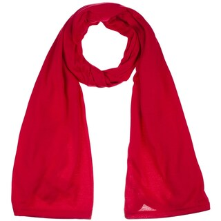Women's Jersey hijab scarves fashion long plain scarf wrap shawls (Option: Red)