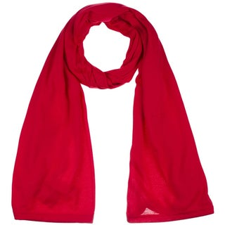 Women's Jersey scarves fashion long plain scarf wrap shawls hijab (Option: Red)