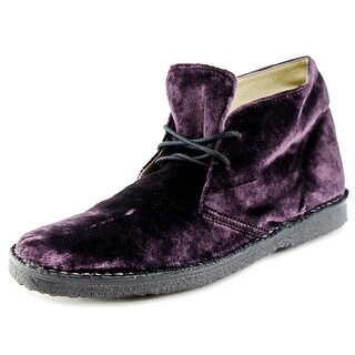 Emma Hope 711139 Women Round Toe Canvas Purple Chukka Boot