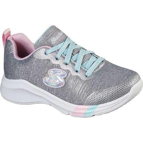 Skechers Girls' Dreamy Lites She's Magic Sneaker Light Gray