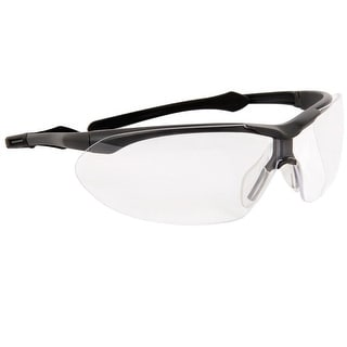 Forney 55432 Safety Glasses, Flight with Gray Frame, Clear Lens