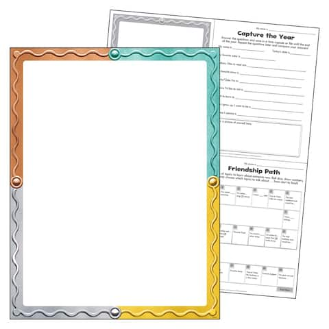 "Blank I ? Metal Learning Chart, 17"" x 22"""