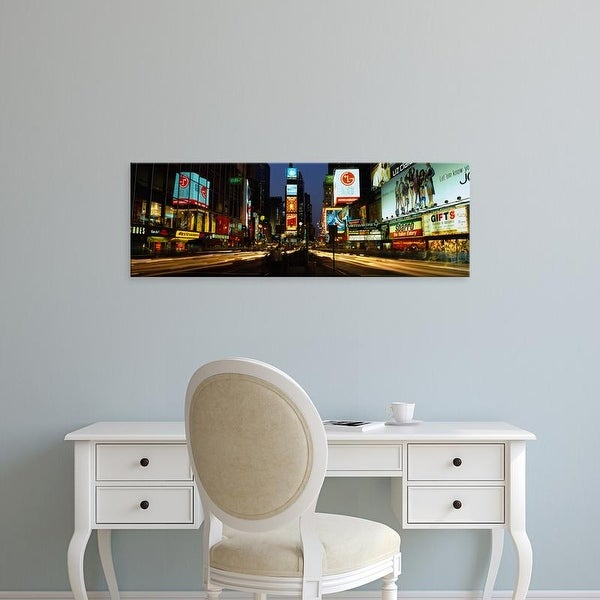 Easy Art Prints Panoramic Images's 'Shopping malls, Times Square, Manhattan, New York City, New York State' Canvas Art