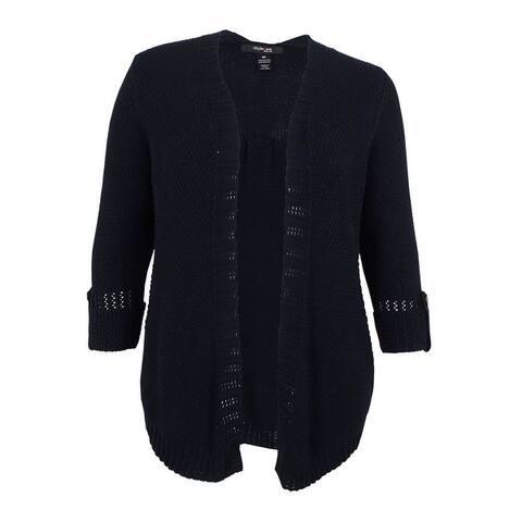 Style & Co. Women's Plus Size Roll-Tab Open-Front Cardigan