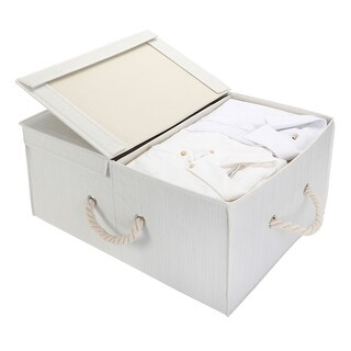 StorageWorks Jumbo Storage Box with Rope Handle and Double-open Lid
