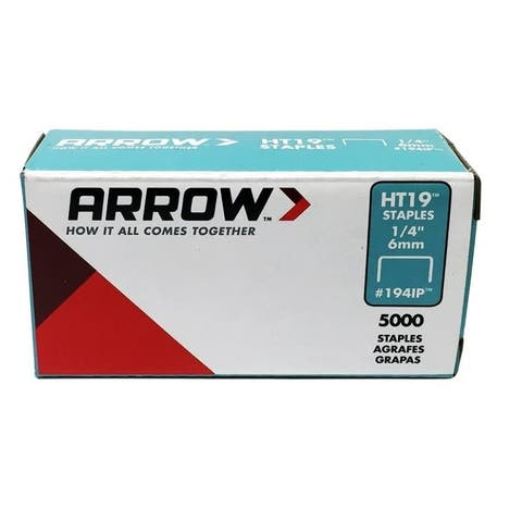 "Arrow Fastener 194IP Crown Staple, 1/4"",Steel"