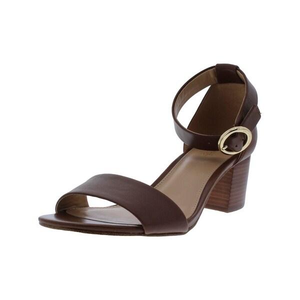 MICHAEL Michael Kors Womens Lena Strap Sandals Open Toe Low Block