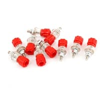 Unique Bargains 5/32 Thread Dia Red Clear Shell Binding Post Terminal 10 Pcs