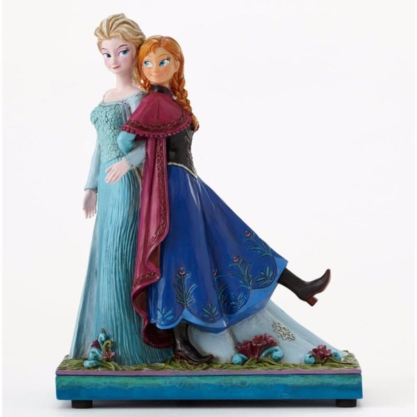 """Disney Traditions Frozen Showcase Collection """"Sisters Forever"""" Elsa & Anna Musical Figurine #4049101 - BLue"""