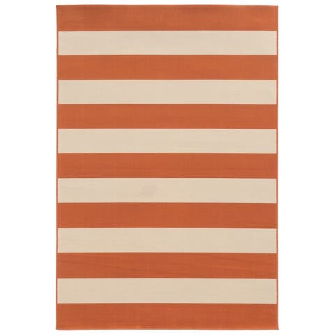 Carson Carrington Sonderso Indoor/ Outdoor Stripe Area Rug
