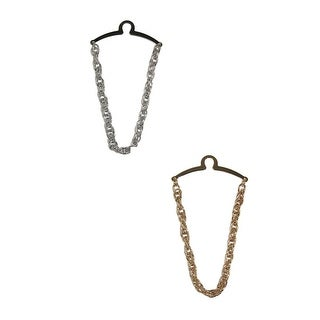 Competition Inc. Men's Double Loop Tie Chain - Gold/Silver - One size
