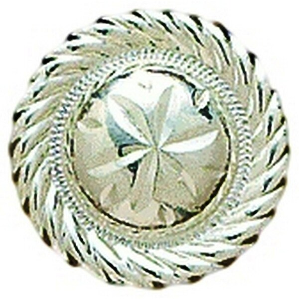 """M&F Western Concho Womens Engraved Round Floral 1 1/4"""" Silver - 1 1/4"""""""