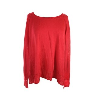 Rachel Rachel Roy Red Long-Sleeve Tulip-Back Sweater  M