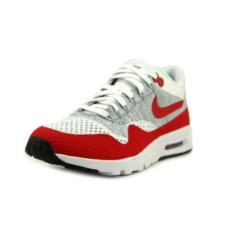 Nike Air Max 1 Ultra Flyknit Women Round Toe Canvas Gray Sneakers