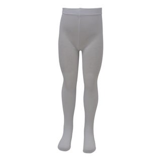 Piccolo Girls White Geometric Pattern Textured Tights 4-14