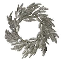 Gold Glittered Pine Artificial Christmas Wreath - 22-Inch, Unlit