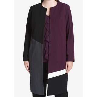 Calvin Klein NEW Purple Womens Size 24W Plus Colorblocked Jacket