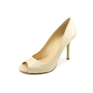Enzo Angiolini Maiven Women Peep-Toe Synthetic Nude Heels