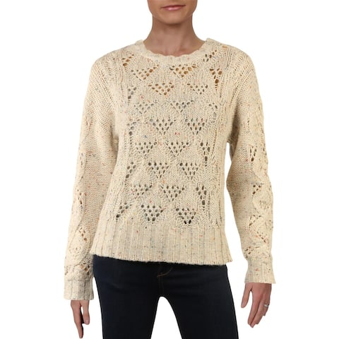 Lucky Brand Womens Pullover Sweater Knit Crewneck - Natural Multi - M