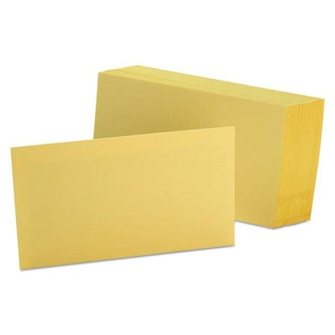 3 x 5 Unruled Index Cards - Canary