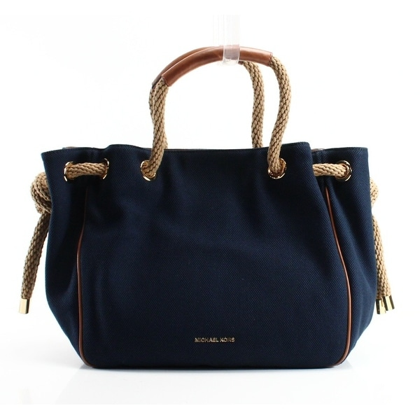 fdfd9539d94fac Shop Michael Kors NEW Blue Canvas Navy Dalia Large Shoulder Tote Bag ...