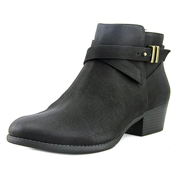 INC International Concepts Herbii Women Round Toe Leather Black Bootie