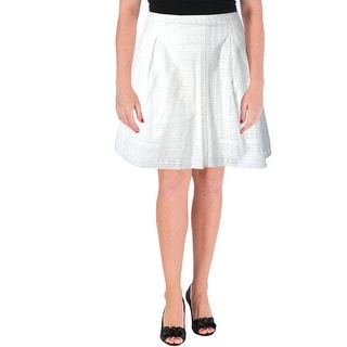 Vince Womens Lace Pleated A-Line Skirt