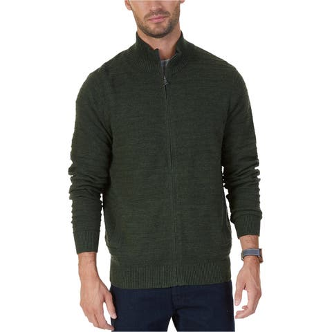 Nautica Mens Knit Cardigan Sweater