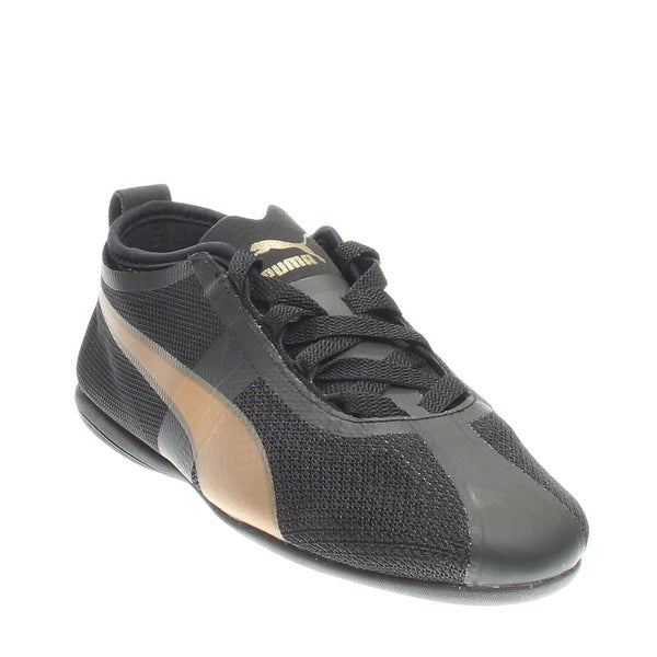 Puma Womens Eskiva Low EVO Sneakers Shoes Black/Gold - 8.5 b(m)