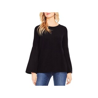 Two by Vince Camuto Womens Pullover Top Fleece Bell Sleeves