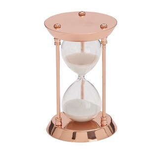 Polished Copper Finish Metal Hourglass Classic Sand Timer