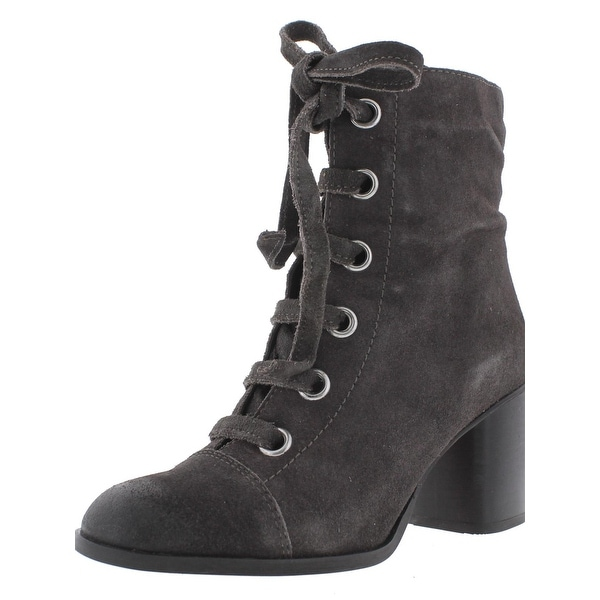 Steve Madden Womens Relley Ankle Boots Suede Lace-Up