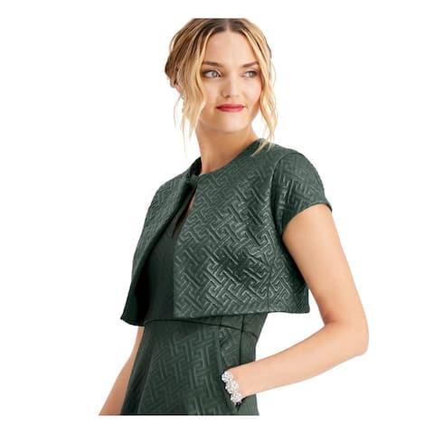 NATORI Green Short Sleeve Crop Top Straight leg Top XL