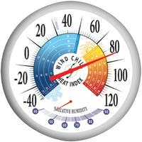 """Springfield 90078 13.25"""" Thermometer With Hygrometer"""