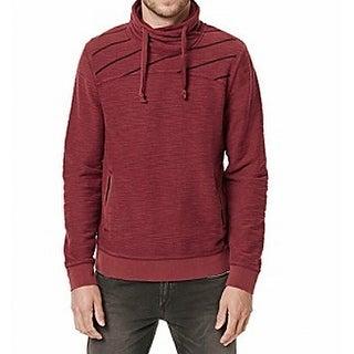 Buffalo David Bitton NEW Maroon Red Mens Size XL Funnel-Neck Sweater