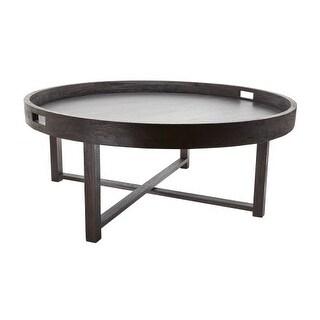 "Dimond Home 784059 Black Teak 18""H X 42""D Coffee Table Tray"