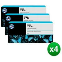 HP 771A 3-Cartridges 775-ml Photo Black DesignJet Ink Cartridges (B6Y45A) (4-Pack)