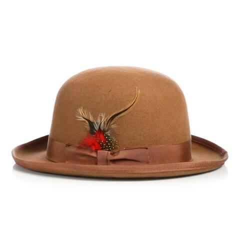 Ferrecci Premium Wool Derby Bowler Hat