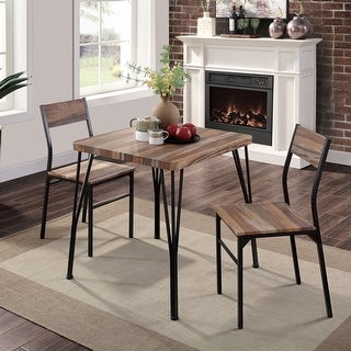 Link to Furniture of America Nama Industrial 3-piece Dining Table Set Similar Items in Dining Room & Bar Furniture