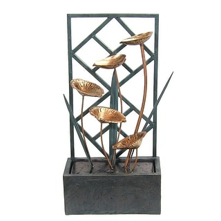 Sunnydaze Wandering Leaves Tabletop Fountain, 20 Inch Tall