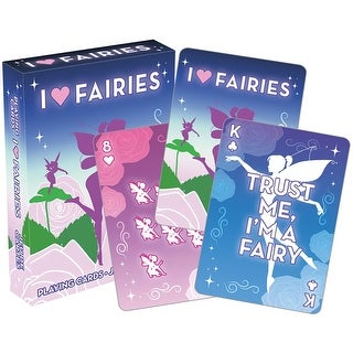 I Love Fairies Licensed Playing Cards - Standard Poker Deck - MultiColor