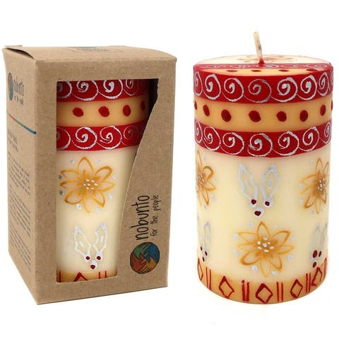 Christmas Handmade Kimeta Design Dinner Candles (South Africa)