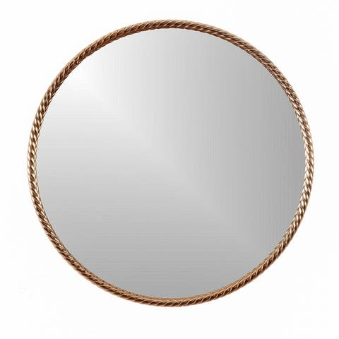 Archie Modern Round Framed Wall Hanging Accent Mirror